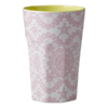 Becher Latte Cup Lace Print - rice