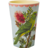 Becher Latte Cup Vintage Birds Print - rice