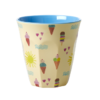 Melamin Becher M Summer Print - rice